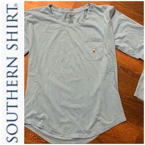 Southern Shirt long sleeve cotton logo pocket tee